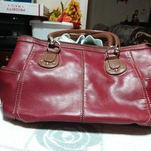 Women's burgundy purse